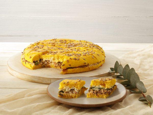 PÃO DE ABÓBORA c/ picanha, cream cheese e alface